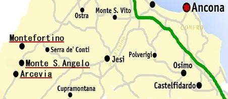 Mappa di Arcevia