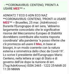 Mario Centeno sul MES