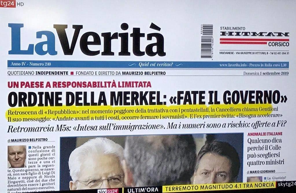 Merkel ordina al Pd di fare il governo