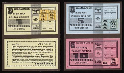 I certificati di lavoro di Wörgl