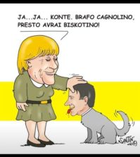 Conte cagnolino della Merkel