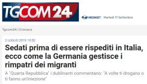 Migranti sedati dalla Germania prima di essere spediti in Italia