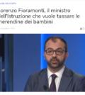 Fioramonti vuole tassare le merendine dei bambini